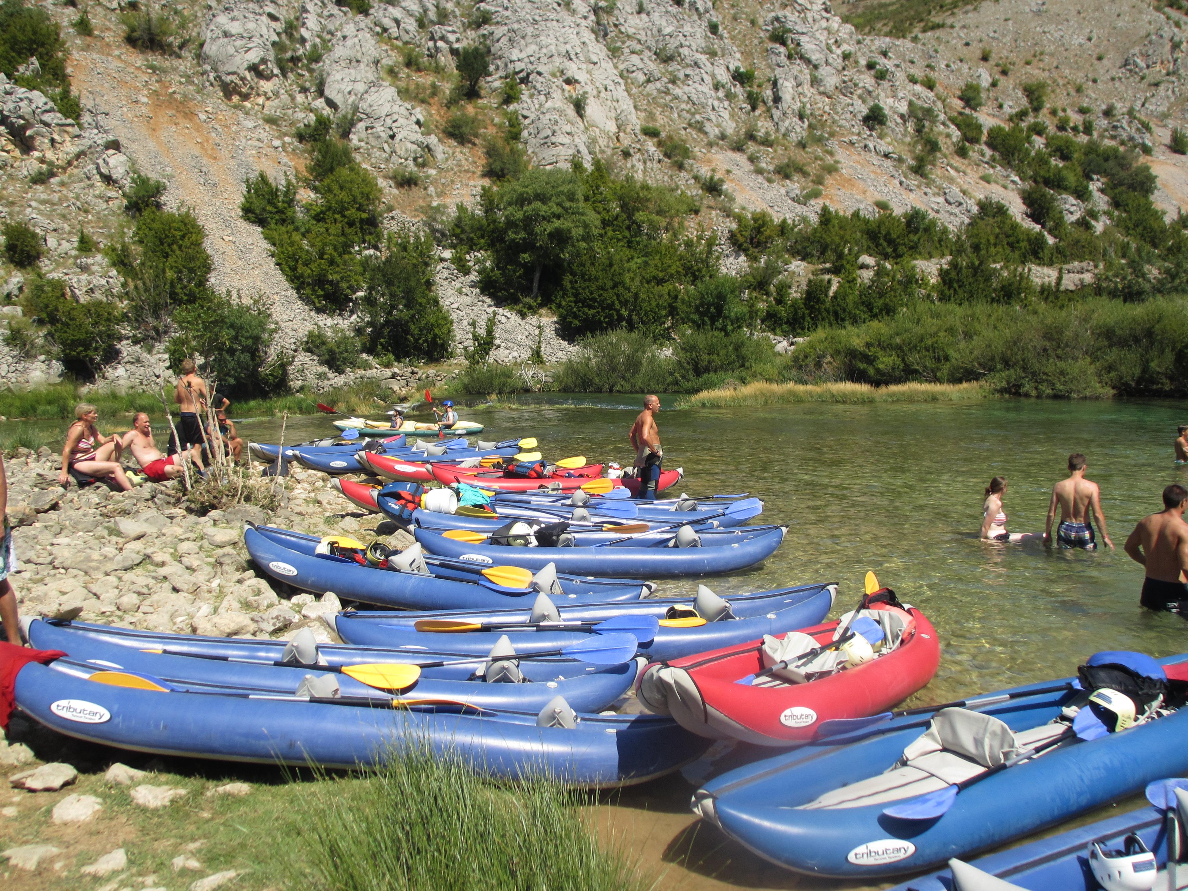 kayak trip swim stop