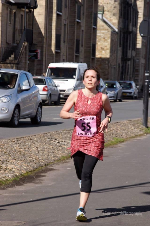Woman running in Nuu Muu dress