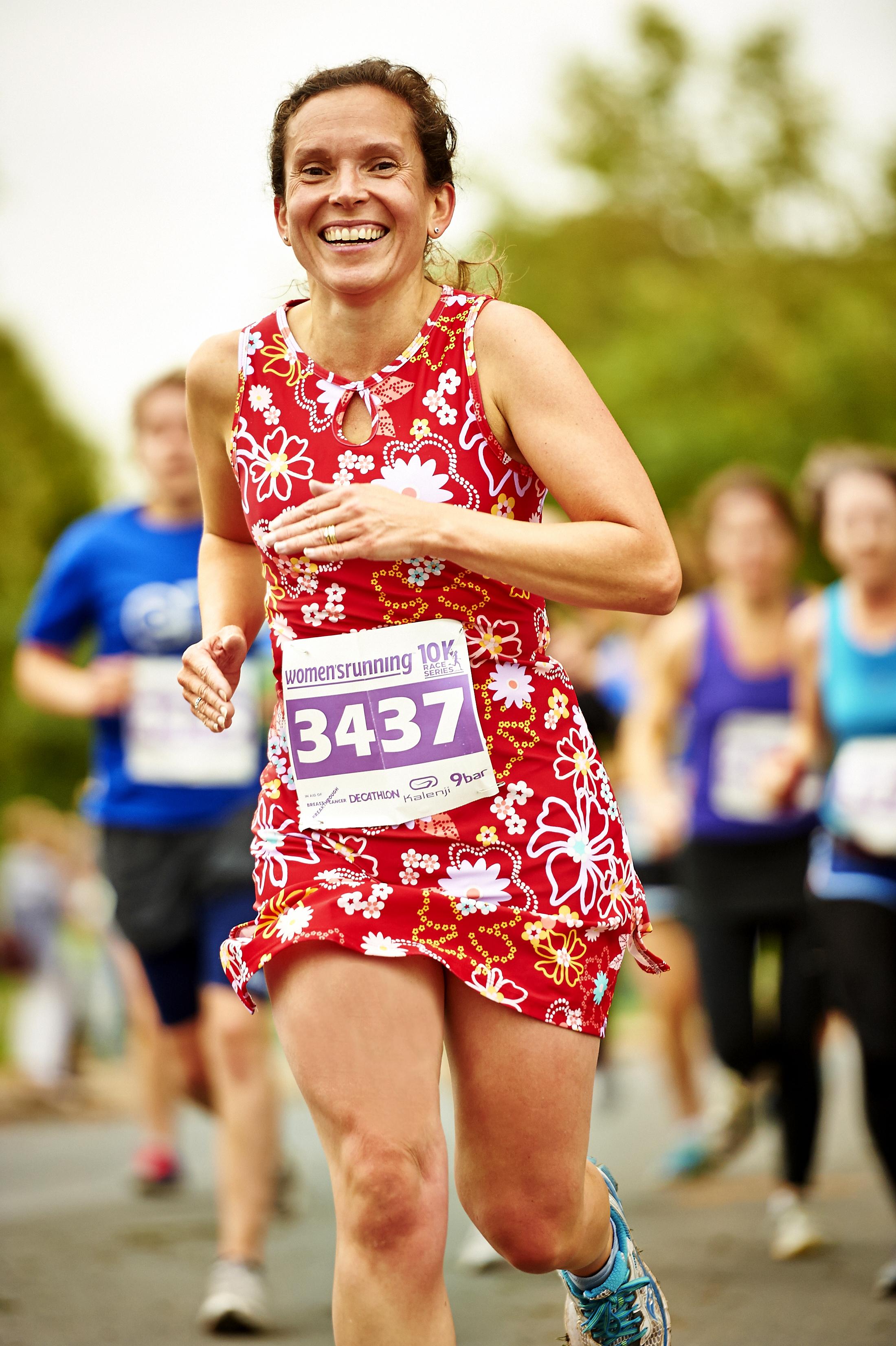 Juliet McGrattan in Nuu Muu women's running dress