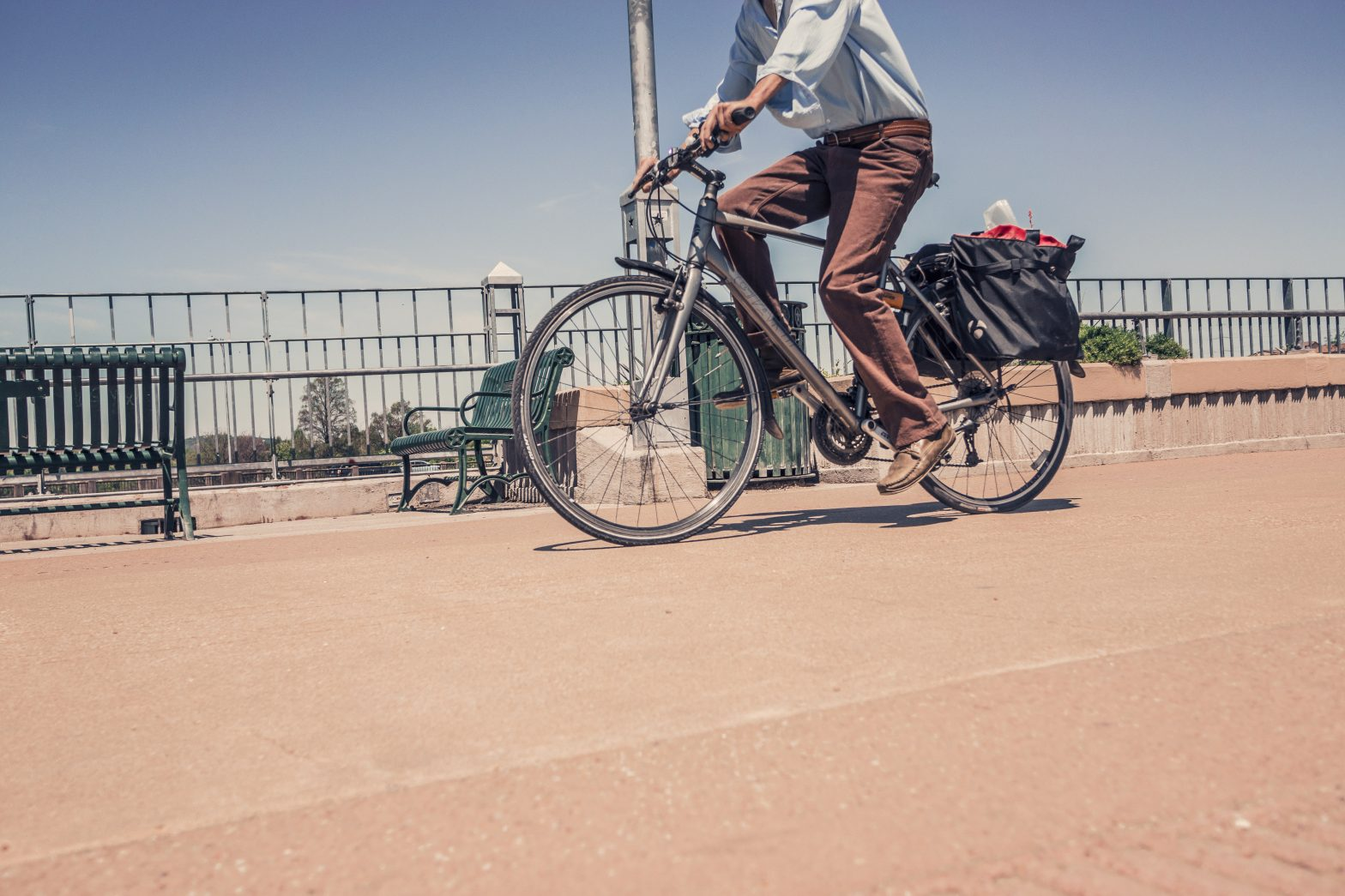 Man cycling exercise