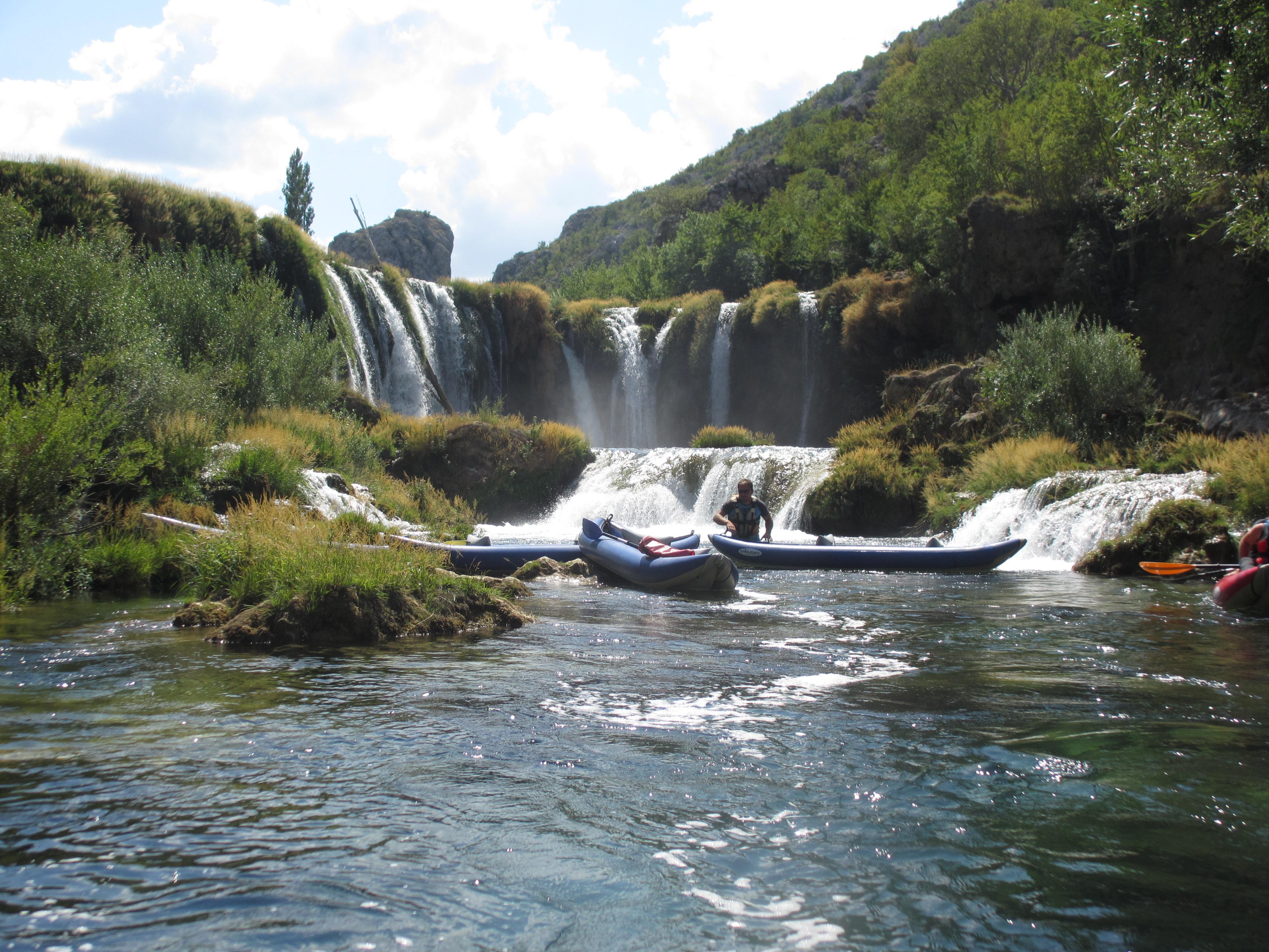 waterfall kayak