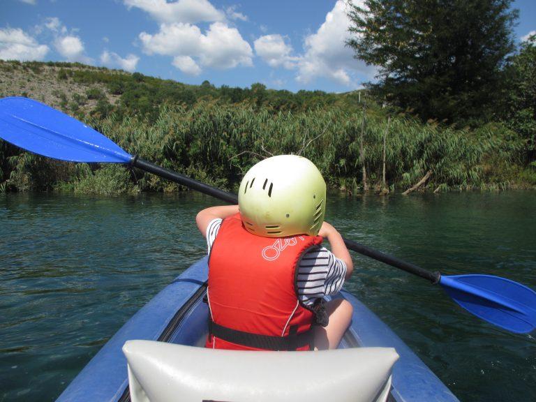 Kayaks, kids, waterfalls and a nervous mum