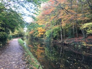 Running Along the Leeds & Liverpool Canal.